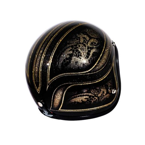 70's Helmets Black Lace - Right