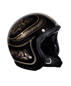 70's Helmets Black Lace - Profile