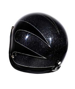 70's Helmets Black Scallops 2016 - Back Left