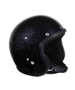 70's Helmets Metal Flake Black