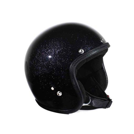 70's Helmets Metal Flake Black