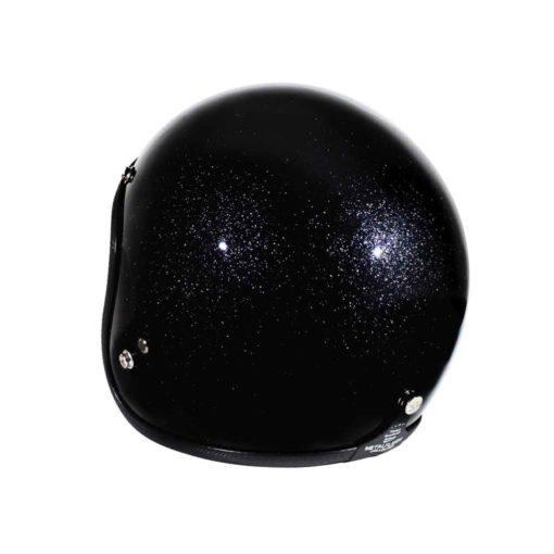 70's Helmets Metal Flake Black - Back Left