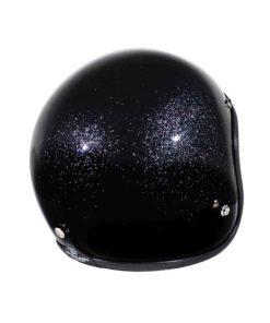 70's Helmets Metal Flake Black - Back Right