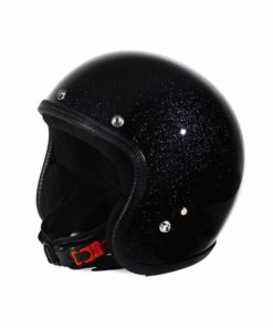 70's Helmets Metal Flake Black - Profile