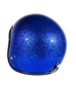 70's Helmets Metal Flake Blue - Left