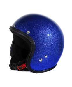 70's Helmets Metal Flake Blue - Profile