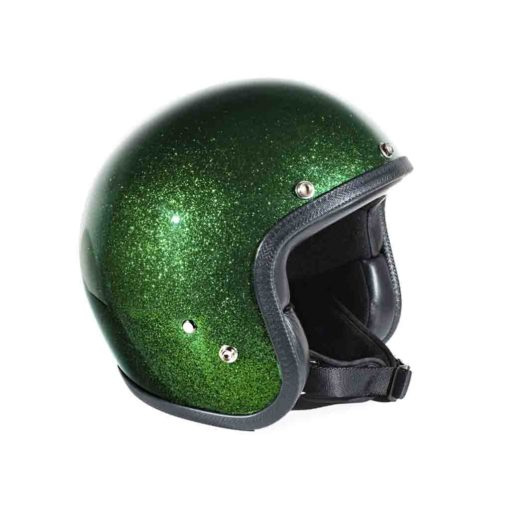 70's Helmets Metal Flake Deep Green