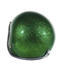 70's Helmets Metal Flake Deep Green - Back Left