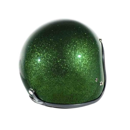 70's Helmets Metal Flake Deep Green - Back Right