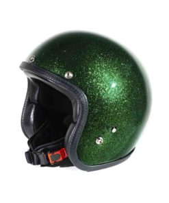 70's Helmets Metal Flake Deep Green - Profile