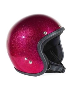 70's Helmets Metal Flake Fucxia