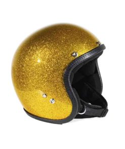 70's Helmets Metal Flake Gold
