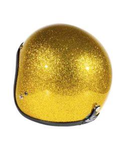 70's Helmets Metal Flake Gold - Back Left