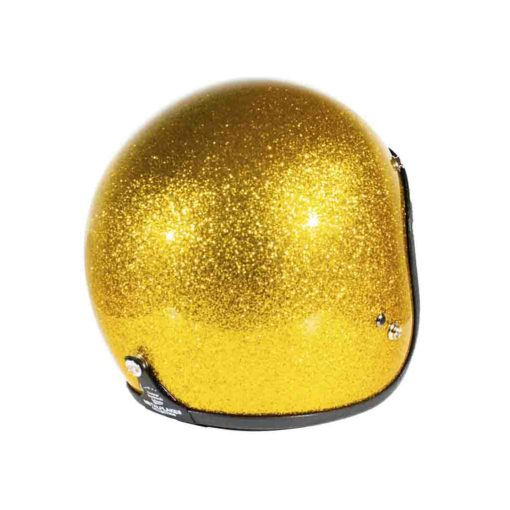70's Helmets Metal Flake Gold - Back Right