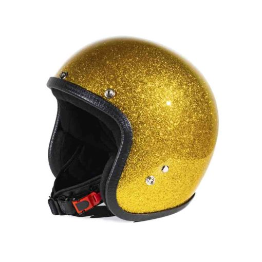70's Helmets Metal Flake Gold - Profile