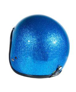 70's Helmets Metal Flake Light Blue - Back Left