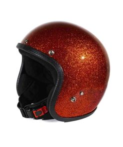70's Helmets Metal Flake Orange - Back Left - Profile