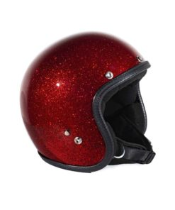 70's Helmets Metal Flake Red