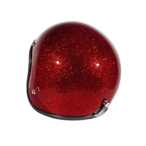70's Helmets Metal Flake Red - Back Left