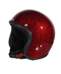 70's Helmets Metal Flake Red - Profile