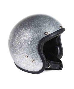 70's Helmets Metal Flake Silver