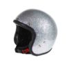 70's Helmets Metal Flake Silver - Profile