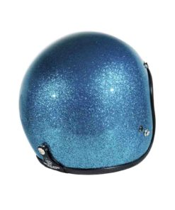 70's Helmets Metal Flake Turquoise - Back Right