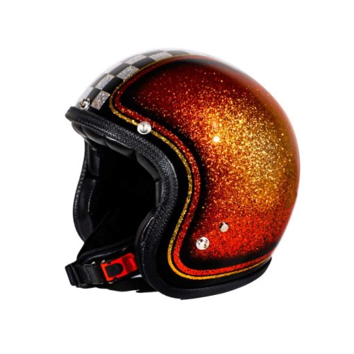 70's Helmets Orange Checkered