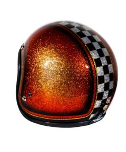 70's Helmets Orange Checkered - Left