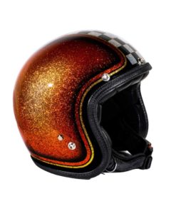 70's Helmets Orange Checkered - Profile