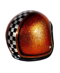 70's Helmets Orange Checkered - Right