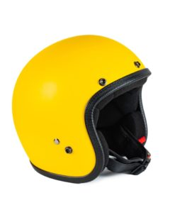 70's Helmets Pastello Mat Yellow - Left