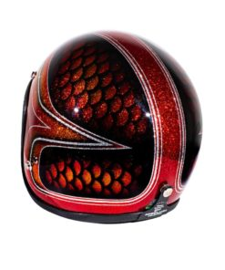70's Helmets Red Fish Scales 2013 - Left