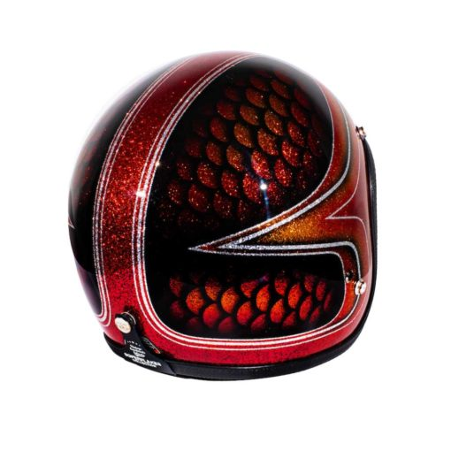 70's Helmets Red Fish Scales 2013 - Right