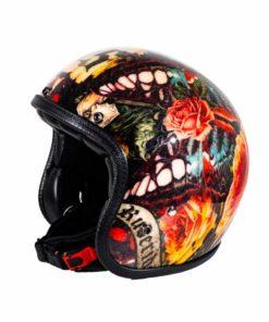 70's Helmets Skull Roses