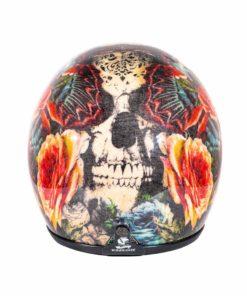 70's Helmets Skull Roses - Back