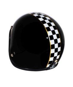 70's Helmets Superflat Checkered Black - Back Left