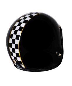 70's Helmets Superflat Checkered Black - Back Right