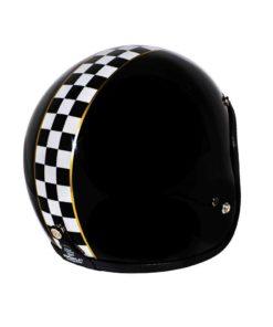70's Helmets Superflat Checkered Black - Back Right