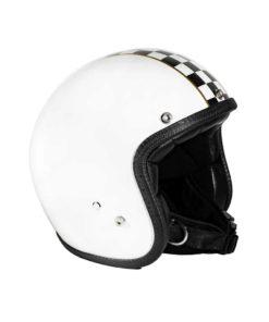 70's Helmets Superflat Checkered White