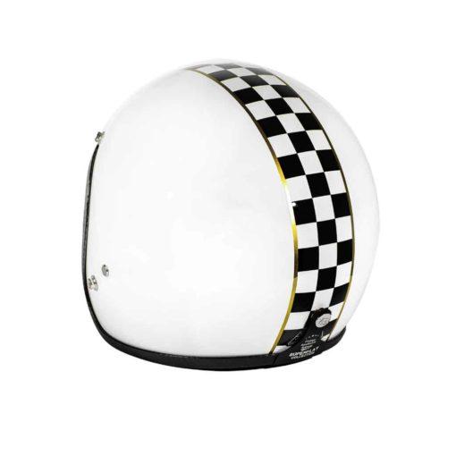 70's Helmets Superflat Checkered White - Back Left