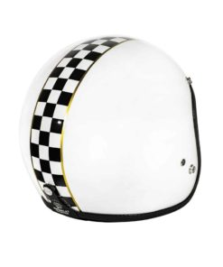 70's Helmets Superflat Checkered White - Back Right