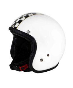 70's Helmets Superflat Checkered White - Profile