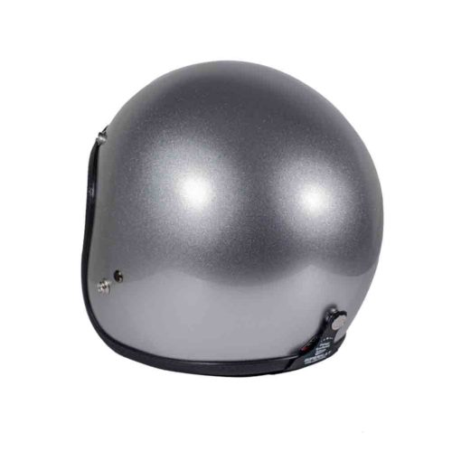 70's Helmets Superflat Classic Silver - Back Left