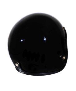 70's Helmets Superflat Glossy Black - Back Right