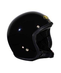 70's Helmets Superflat Glossy Black - Profile