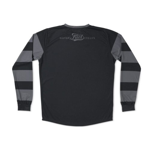 Fuel Grey Stripes Enduro Jersey - Back