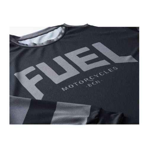 Fuel Grey Stripes Enduro Jersey - Logo