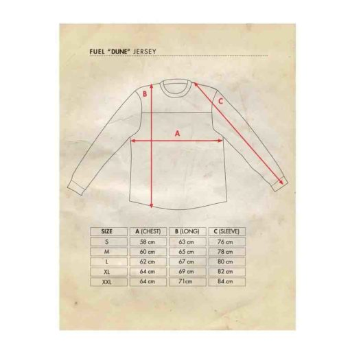 Fuel Jersey - Size Chart