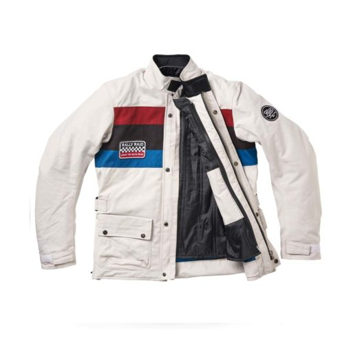 Fuel Rally Raid Jacket White - Thermo Liner